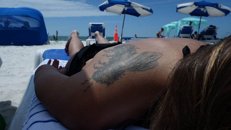Angela's bee tattoo