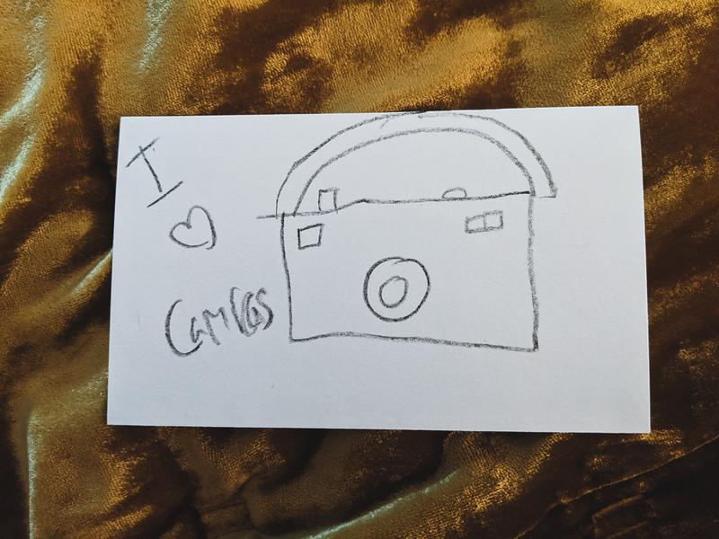 drawing of a camera by lyla