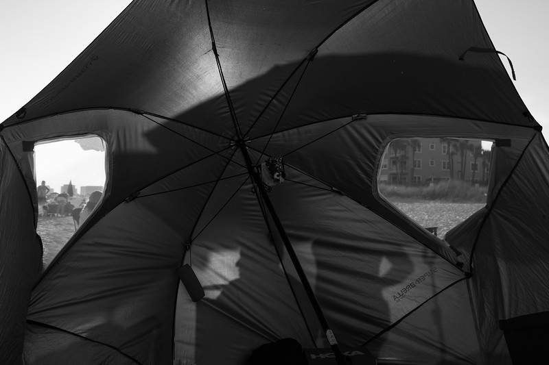 shadows on the umbrella