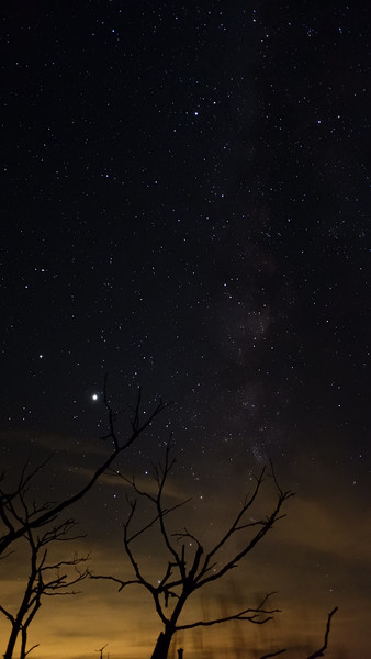 astrophotography with milky way (but no comet)