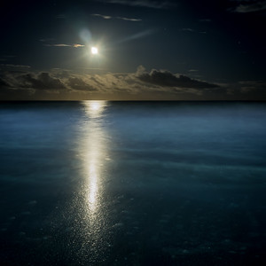 Moonrise Over The Atlantic