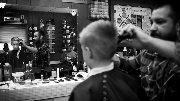 Boy At The Barber