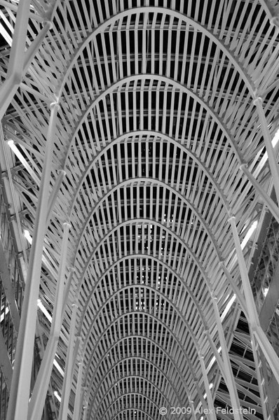 BCE Place, Heritage Square and Galleria, Toronto<br /> It features the Allen Lambert Galleria, an award-winning, 6 story pedestrian avenue conceived by Santiago Calatrava. It is 85-feet high, 45-feet wide, and 380-feet long (24x14x110 meters). The Galleria houses Toronto's oldest surviving stone building, the former Commercial Bank of Midland (built 1845).