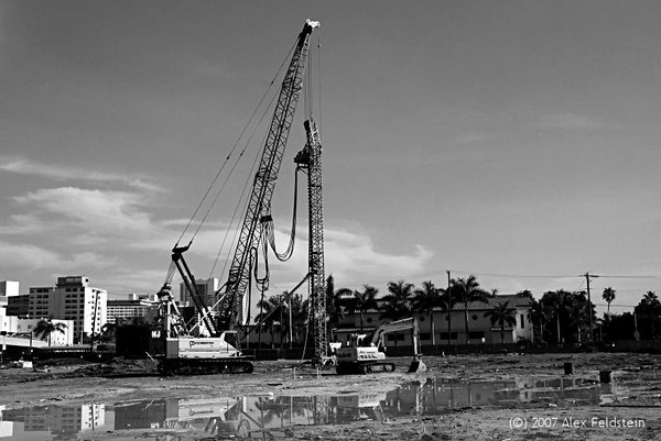 Miami Beach construction site