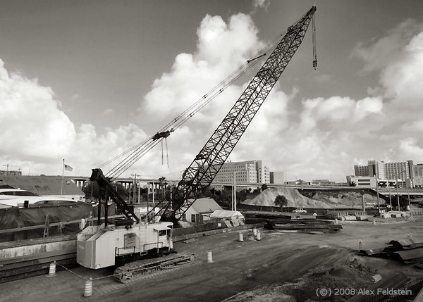 Construction site by the Miami River