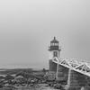Marshall Point light on a foggy morning<br /> Maine