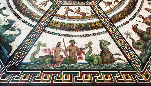 Roman mosaic at the Hermitage, St. Petersburg, Russia.