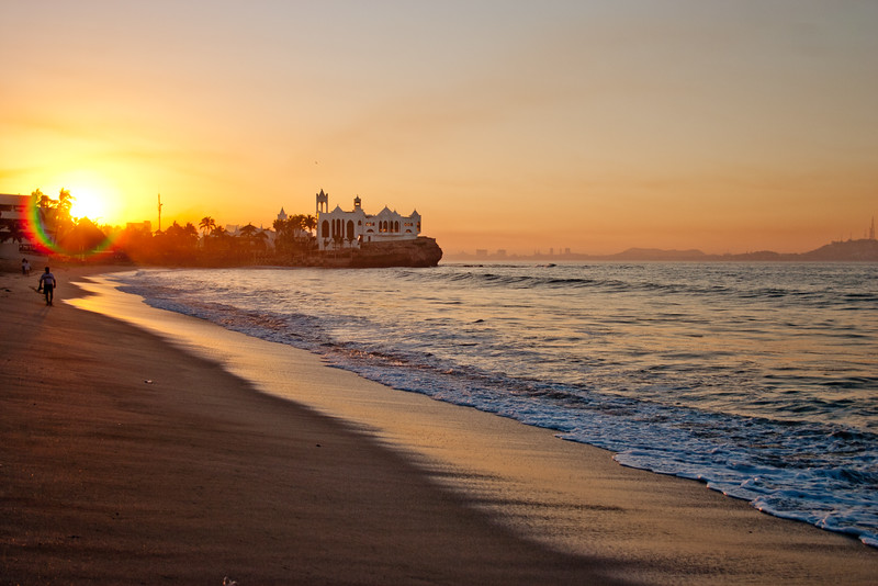 Sunset In Mexico on the Beach