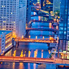 Bridges at Night in Chicago