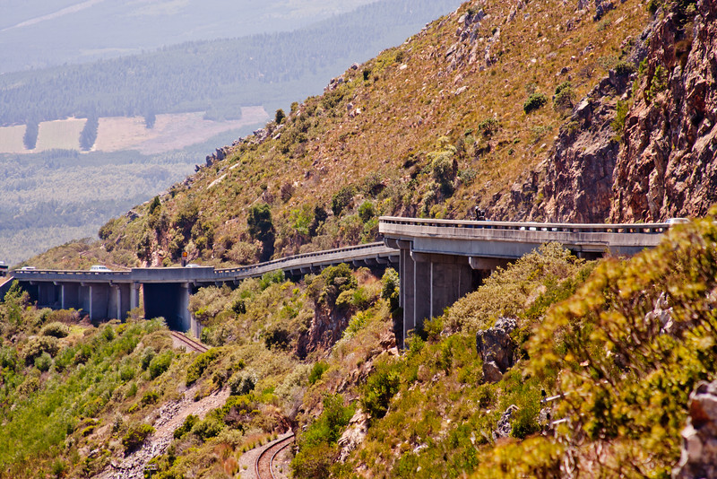 Freeway on the Side of the Mountain in South Africa