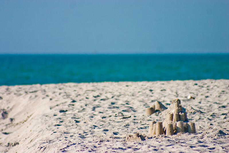 Sand Castles on the Florida Beach