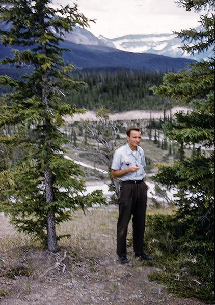 1958 David Baral in Banff / Lake Louise (Alberta)