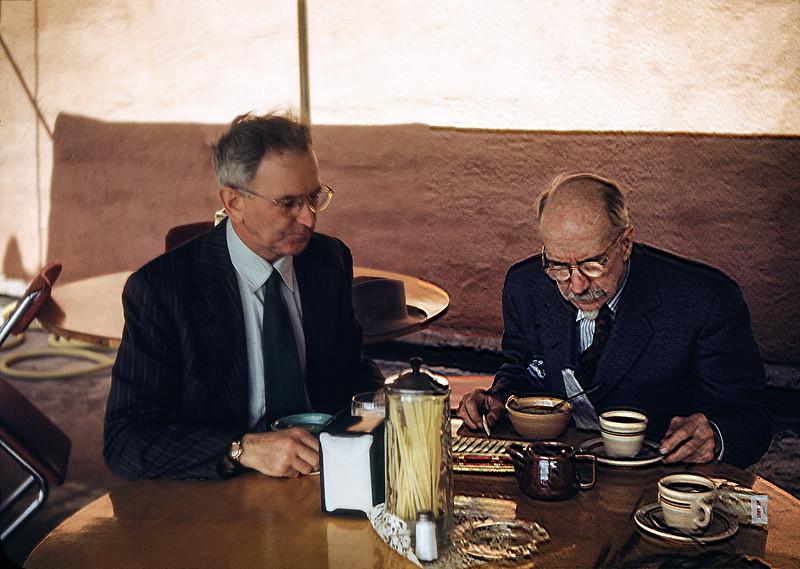 1952 (est)  Mr HF Baral and Mr Goodrich (Pops)