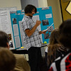 """KRISTOPHER RADDER - BRATTLEBORO REFORMER<br /> Hinsdale High School student Ion Handelman explains the rules to a game her created during his Extended Learning Opportunities' presentation """"Senior Citizens Just Want to Have Fun,"""" on Friday, May 18, 2018."""