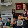 """KRISTOPHER RADDER - BRATTLEBORO REFORMER<br /> Hinsdale High School student Lily Burke talks about nutrition during her Extended Learning Opportunities' presentation """"A Day in the Life of Your Diet"""" on Friday, May 18, 2018."""