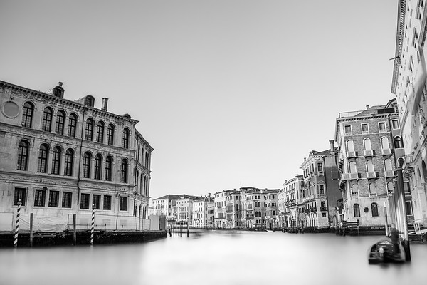 Grand Canal in black and white