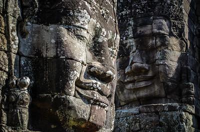 Faces at Bayon    Angkor Wat