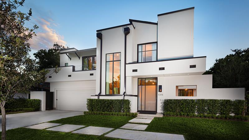 Modern White Home Exterior