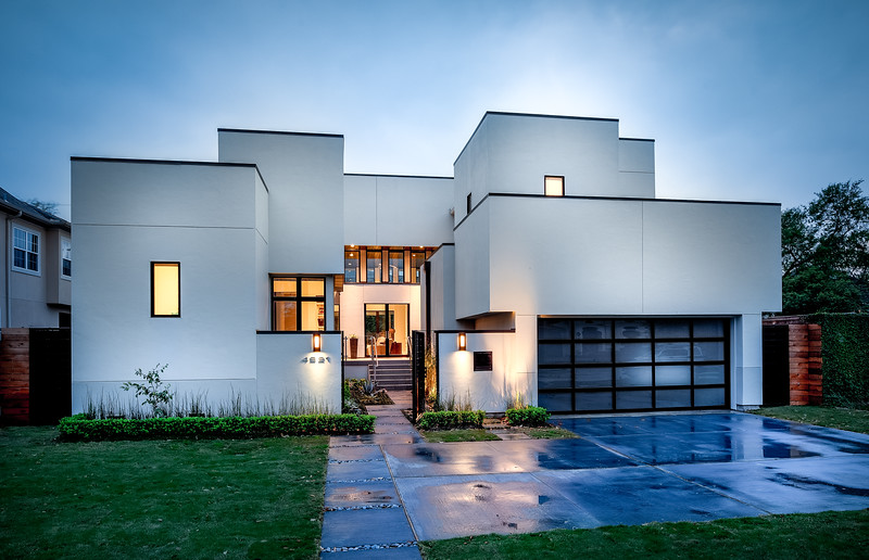 Modern Home in Twilight