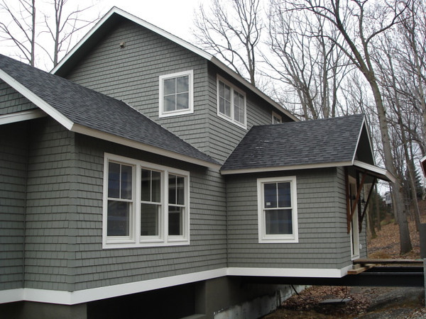 The no maintenance Hardie® siding is perfect for this woodland setting.