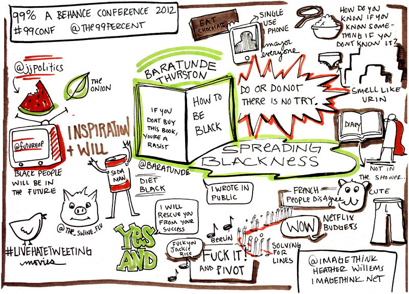 Baratunde Thurston's talk at the 99% Conference in New York City, 2012