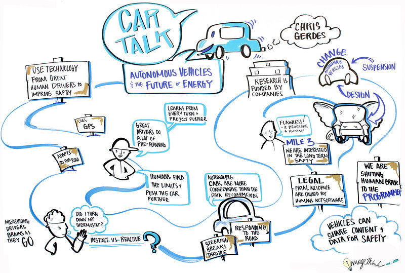 """""""Tech Disruptor #3: Car Talk: Autonomous Vehicles and the Future of Energy,"""" with Chris Gerdes. Chris Gerdes, Director of the Center for Automotive Research at Stanford (CARS), in conversation with BBC Future technology columnist Jon Stewart"""