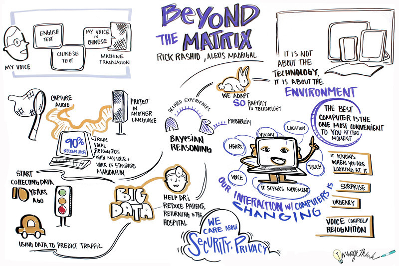 """""""Beyond The Matrix,"""" with Rick Rashio, Alexis Madrigal. Rick Rashid, Chief Research Officer at Microsoft, in conversation with Atlantic senior editor Alexis Madrigal"""