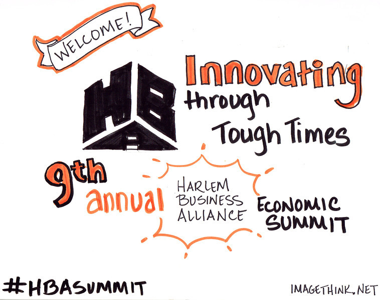 Welcome drawing for the 9th Annual Harlem Business Alliance Economic Summit.