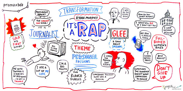 """It's a Rap with Ryan Murphy From humble journalist to Hollywood powerhouse, no one knows better than Ryan Murphy that if you want an audience to pay attention, you've got to keep them on their toes. In this exclusive fireside chat, hear from the film and television screenwriter, director and producer about what inspires him and drives a show's success, and how marketing has influenced his hit shows """"Popular,"""" """"Nip/Tuck,"""" """"Glee"""" and """"American Horror Story."""" Don't miss this incredible discussion with one of television's most successful showrunners.  Speaker: Ryan Murphy, Writer, Director Interviewed by: Denise Martin, Senior Editor, Vulture, """"New York Magazine"""""""
