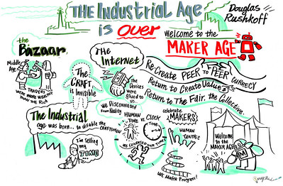 """The Industrial Age is Over"" - World Maker Faire - New York City - 2013: Graphic Recording by ImageThink"