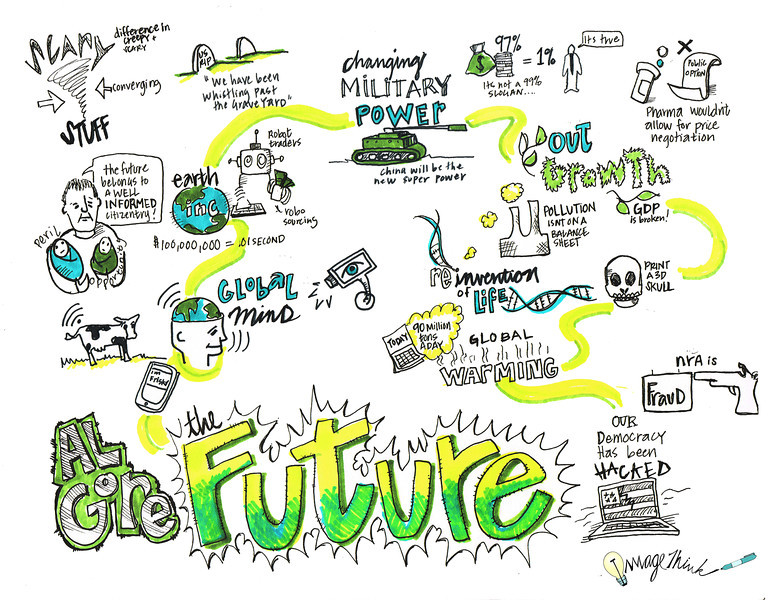 This session was about Gore's frank and clear-eyed assessment of the emerging forces that are reshaping our world and will continue to do so in the decades to come. Gore surveyed our planet's beclouded horizon and offered a sober, learned, and ultimately hopeful forecast into The Future.