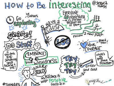 Jessica Hagy of thisisindexed.com talked about the kinds of people who she finds to be most interesting, and types of behaviors and traits that make them so — all of which can be found in her new book, How to Be Interesting.