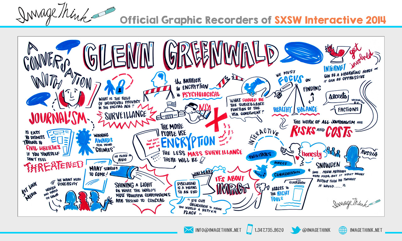 "Glenn Greenwald, Micah Sifry: ""A Conversation with Glenn Greenwald""<br /> Monday March 10, 2014 - SXSWi"