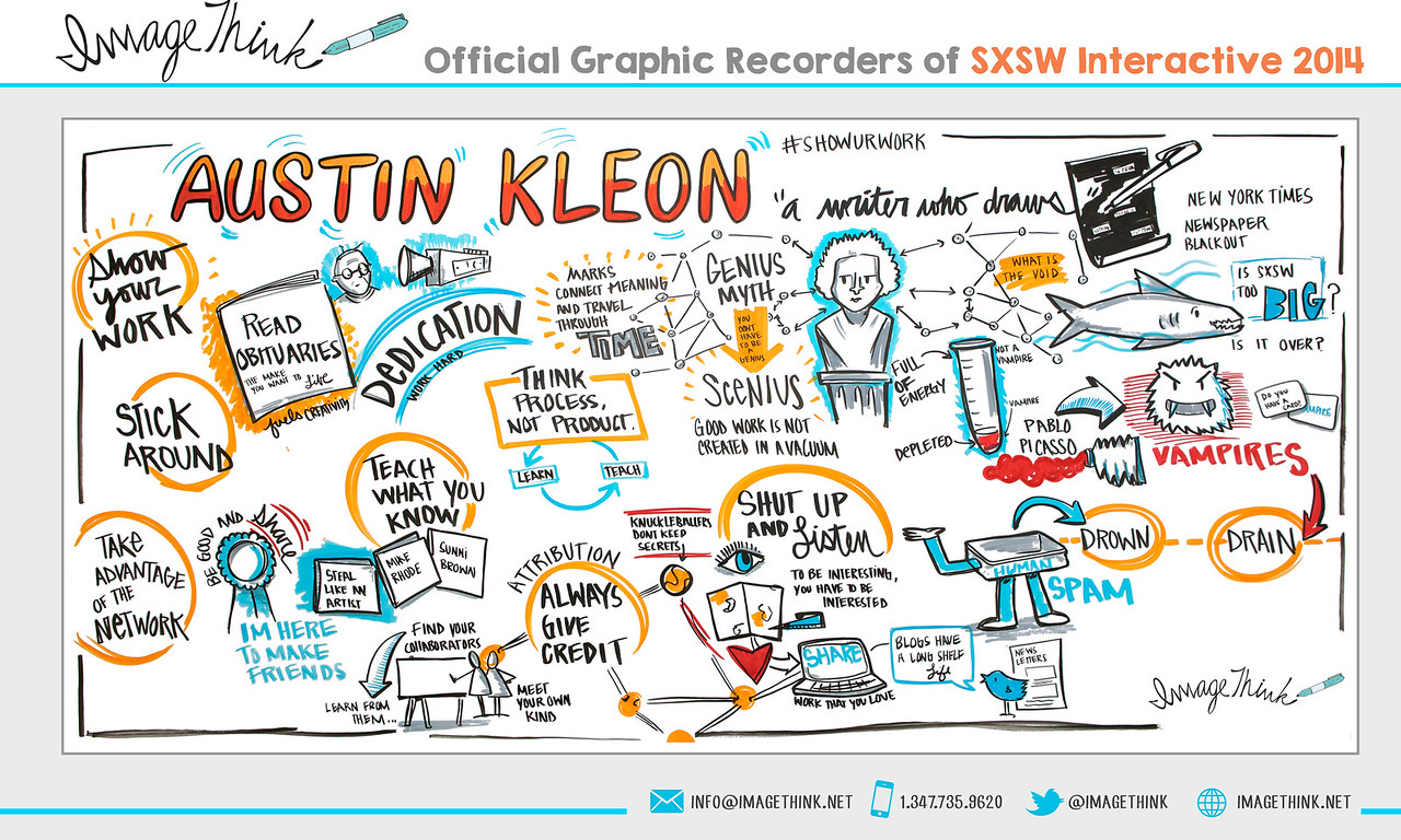 Austin Kleon Keynote<br /> Friday March 7, 2014 - SXSWi