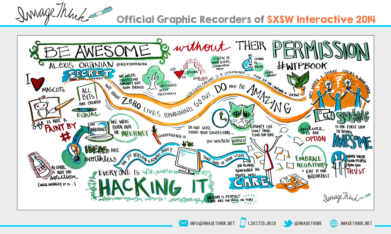 "Alexis Ohanian: ""Be Awesome Without Their Permission""<br /> Sunday March 9, 2014 - SXSWi"