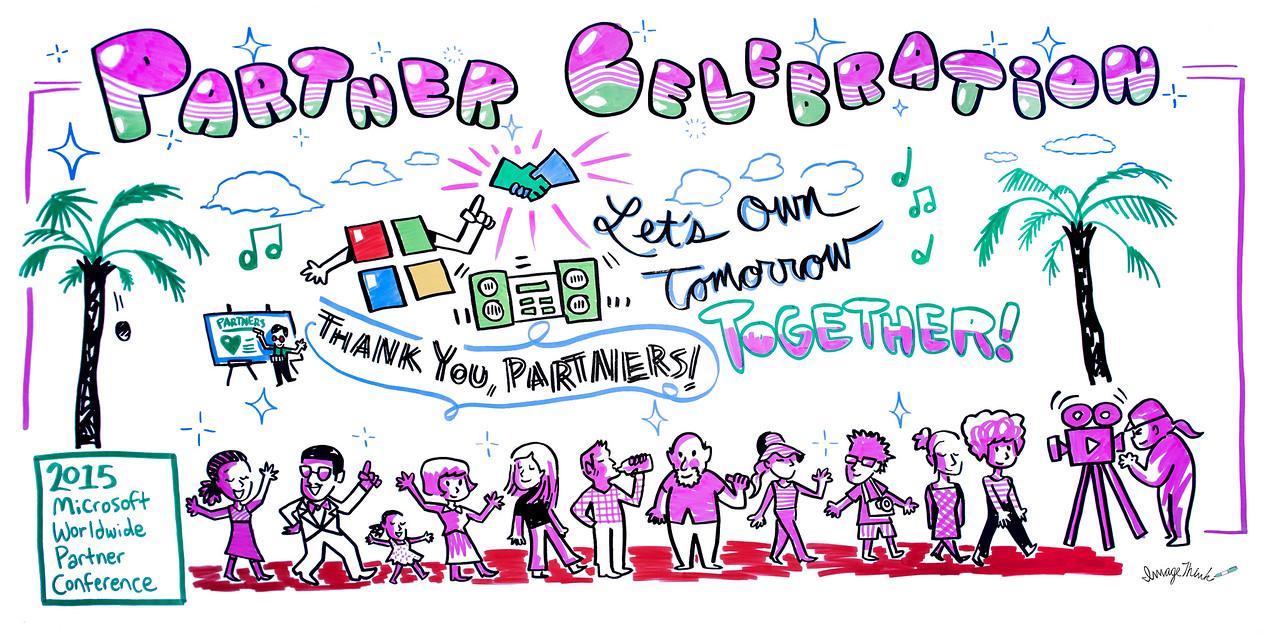Microsoft Worldwide Partner Conference Partner Celebration Sign