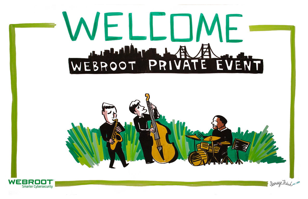 Welcome Sign for Webroot