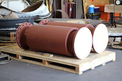 Externally pressurized expansion joints ready for shipping