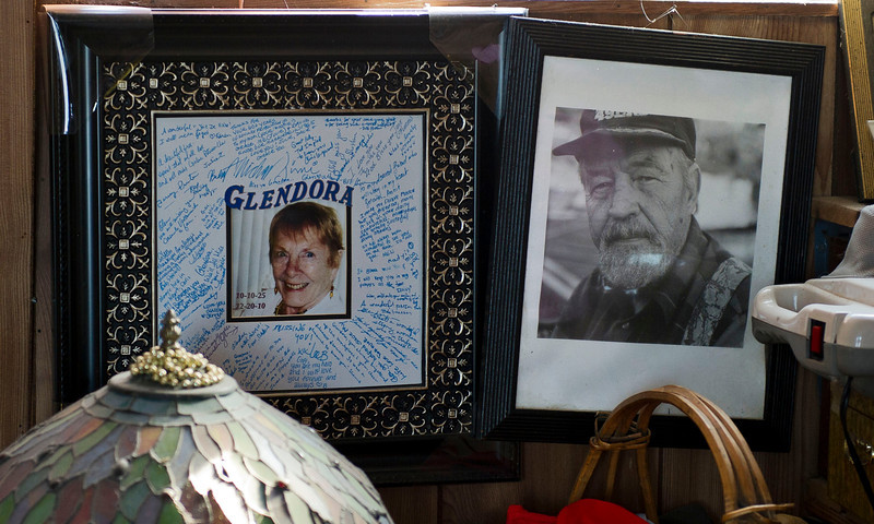 "Srnka and his wife Glendora were in their 40th year of marriage when she passed away in December of 2010. He keeps the memory frame from her funeral between his portrait and the bed that they shared in their houseboat. ""We made this place home, and so when she passed away I wanted to keep that out,"" said Srnka. ""And we scattered her ashes in the channel, too."""