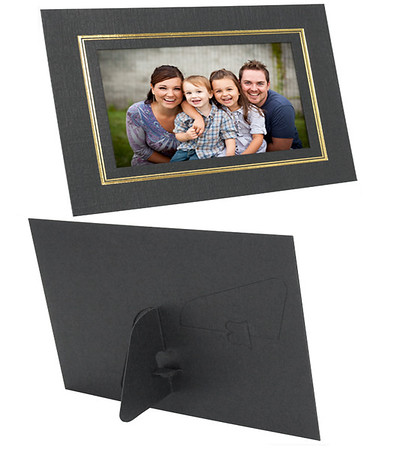 $1.75 - 4x6 Dual Easel Cardstock Photo Frame with Gold Border