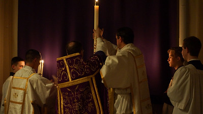Dipping the Paschal Candle in the Water