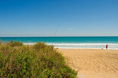 Vilano Beach close to The Reef restaurant