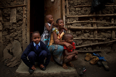 GOOD WEEKEND Emmanuel ?, a student who has been accepted into The School of St Jude with his family at his single room home in Arusha. He is still waiting for a sponsor. 26th May 2015 Photo: Wolter Peeters The Sydney Morning Herald