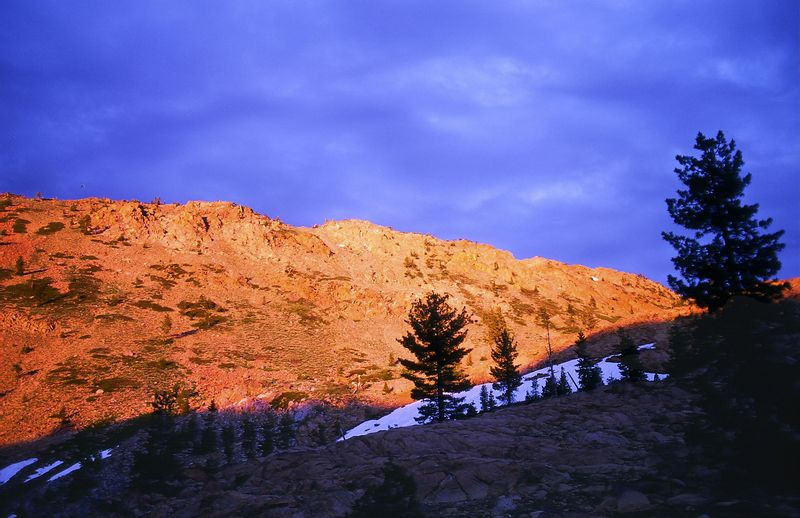 Alpenglow, East Boulder Lake Basin, Scott Mtns., N.W. California