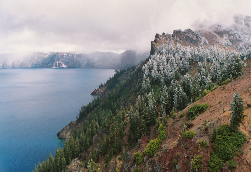 Crater Lake in winter, Southern Oregon