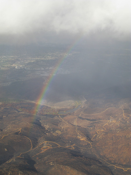 Rainbows over San Diego area charred by fire    December 1, 2007