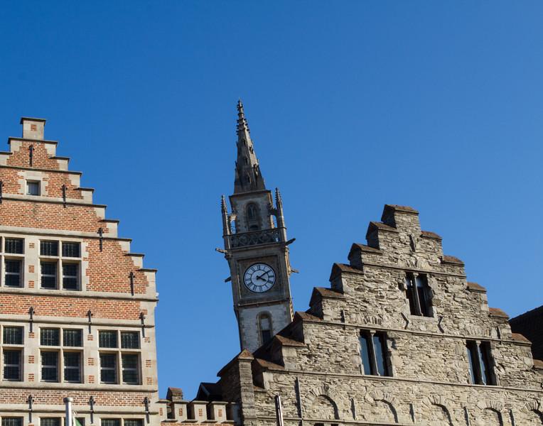 Clock Tower. Ghent, Belgium.