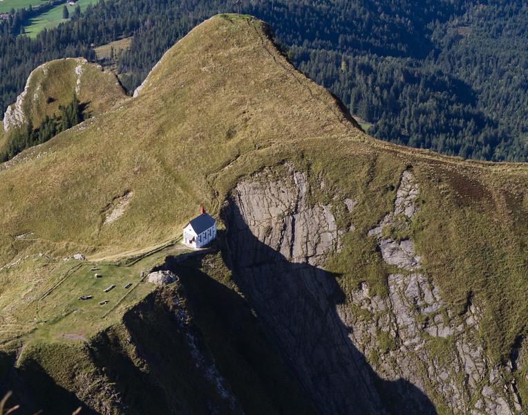 Church on the Mountain. Switzerland.