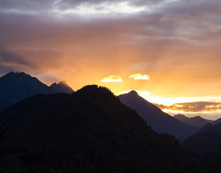 Mountain Sunset. Germany.