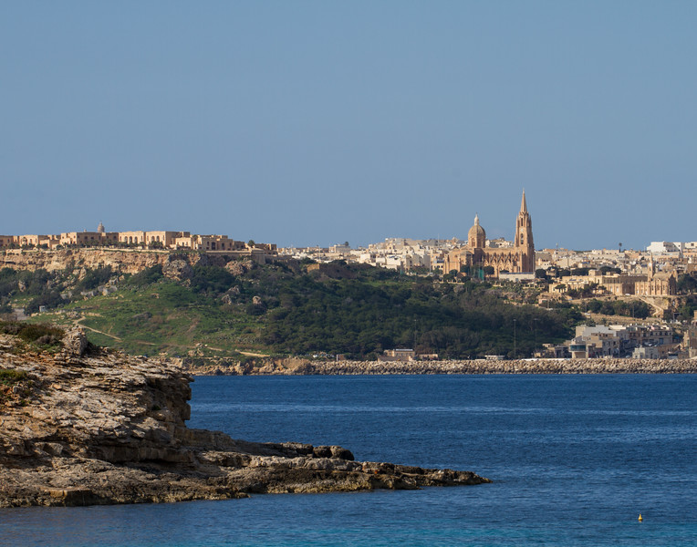 Town on the Hill. Malta.